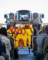 The cast at RNLI Scarborough. In front of their new Shannon. Peter Boyd Photography